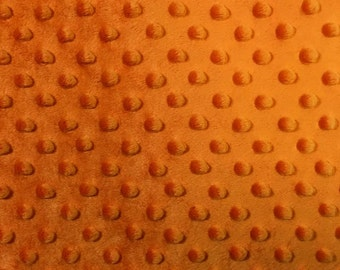 Minky Dimple Dot Fabric By The Yard Orange