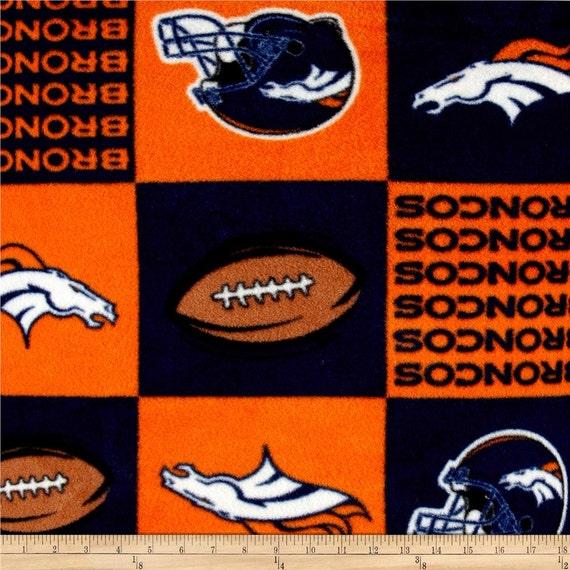 NFL Denver Broncos Fleece V2 Fabric By The Yard