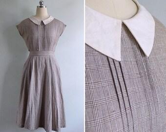 20% CNY SALE - Vintage 80's 'District 12' Prim Pintuck Pilgrim Style Cotton Dress XS or S
