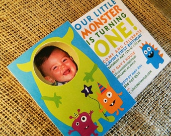 Monster Birthday Party Folding Invitations