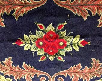 Vintage hand hooked area rug -