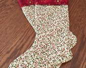 Custom Order - Set of 2 Quilted Christmas Stockings