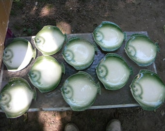 10 nice shape vintage 1960s CZECH CZECHOSLOVAKIA FISH plates
