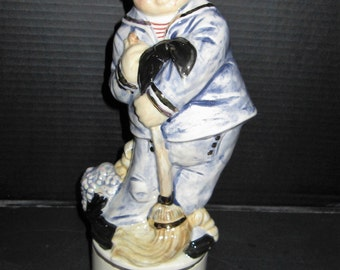 Alberta Vintage Sailor Liquor Decanter Christmas Special