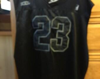 Adult  black  jersey