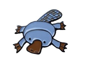 Soft Enamel Platypus Pin Enamel Blue Platypus Pin - Marmarsuperstar Pin