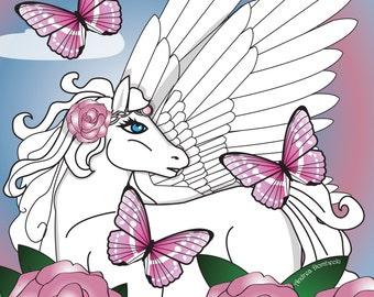 Pegasus Garden Print