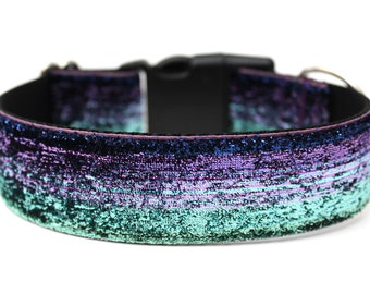 "Glitter Dog Collar 1.5"" Ombre Dog Collar Mermaid Dog Collar"