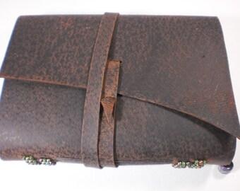 Dusky Brown Leather Grimoire Blank Book