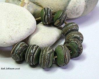 Pine Forest, Lampwork Beads, SRA, UK