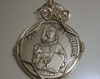 Saint Dymphna Medal Pendant