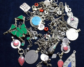 Kuchi Small Jewelry Parts Mixed Shapes Dangles 100 Gram Lot Uber Kuchi