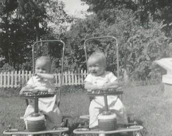 Twins - Vintage Photo - Twin Boys - Twin Girls - Vintage Snapshot - Collectibles - Found Photo