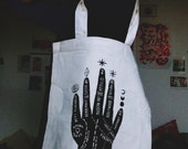 XMAS PRICE ! modern concerns/palmistry screenprinted tote bag