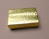 Gold Metallic Gift Box. Paper Cotton Filled Box. Jewelry Box. Cotton Filled. 1.5 x 2 5/8 x 1 Inch. Set of 4 (4)