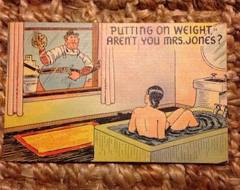 Mrs. Jones Linen 1940s General Comics Postcard