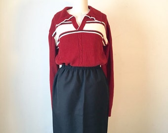 Vintage Red and White Stripped Sweater