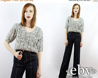 Vintage 80s Nubby Knit Sweater Top S M Vintage Sweater Vintage Jumper