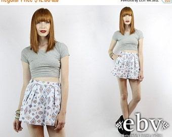 Vintage 90s High Waisted Southwestern Shorts XS S High Waisted Shorts High Waist Shorts Southwest Shorts Hipster Shorts Blue Shorts