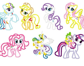 Full Pony pack of 7 designs digital instant download