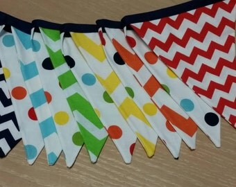 Fabric Pennant Banner Cake Smash Prop Photography Accesory Red Grey
