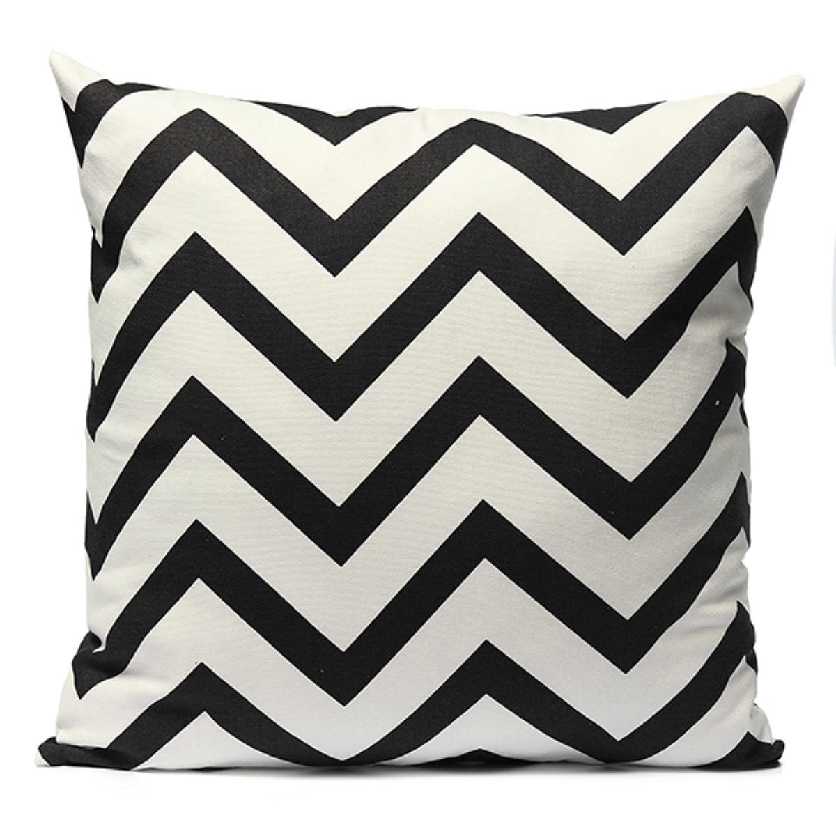 Chevron Black and White Throw Pillow Cover Sofa Bed Home