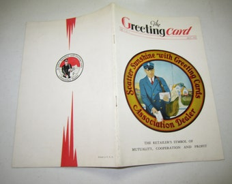 July 1930 The Greeting Card trade booklet photos illustration,ads,articles regarding the greeting card industry,hallmark,buzza,etc.