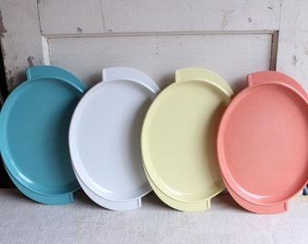 Vintage Mid Century Boonton Melmac Platter Plates Trays