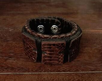 Steampunk Snake Skin Cuff Bracelet // gladiator // spartacus
