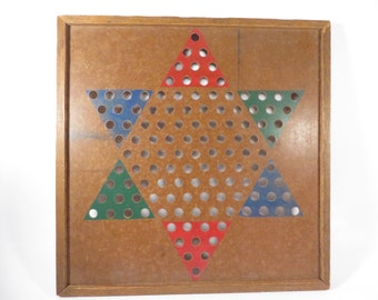 Vintage Chinese Checkers Game Board