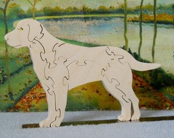 Wooden Labrador Retriever Dog Puzzle