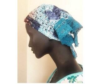 Lace bandana, turbans, hair accessories, cancer head cover, hair cover, lace hair cover,