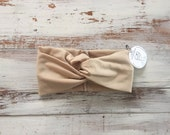 Twist front turban headband in solid colors SALE 50% off