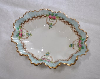 Vintage China Pin Tray - Floral Design