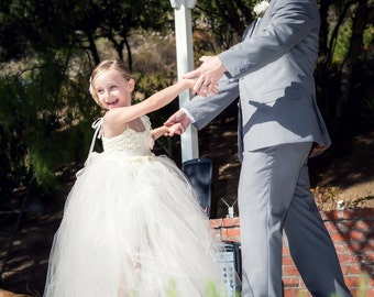 Rose Tulle Flower Girl Dress