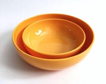 Set of Two Nesting Snack Bowls by Erik Kold Denmark - Kold Plast - Melamine Plastic