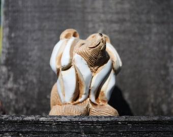 Collie dog Figurine, Artensania Rinconada, Wood And Ceramic, Retired Figurine Collectable