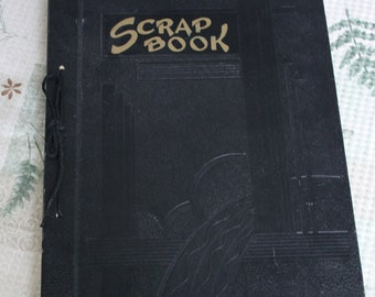 Vintage Scrapbook Stamp Collection Pages in Very Good Condition Front and Back Covers Very Good Condition 23 Pages