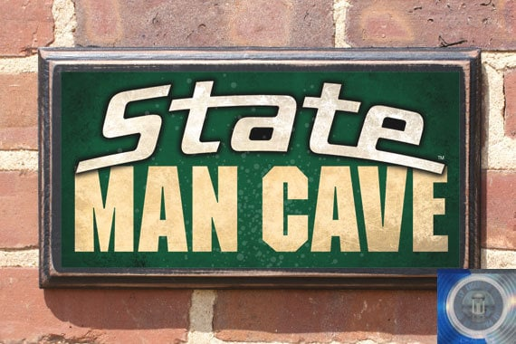 Michigan Man Cave Signs : Michigan state spartans man cave wall art sign plaque gift