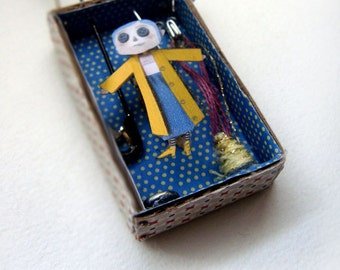 Miniature Coraline necklace-available after order
