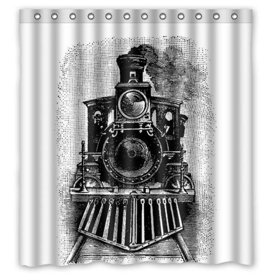 Steam Train Shower Curtain Vintage Steam By TheRekindledPage
