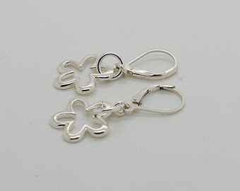 Sterling Silver Earrings Lever Back Earrings 59