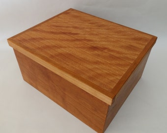 Wooden box from figured cherry
