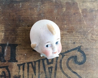 1 antique doll head, victorian doll, Kewpie, Googlie, Googly, painted head, from Elizabeth Rosen