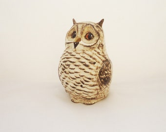 Vintage Babbacombe Owl String and Scissor Holder, Babbacombe Owl Pottery, Babbacombe Pottery