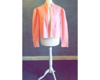 True Vintage LAURA ASHLEY UK 10 pink lightweight blazer