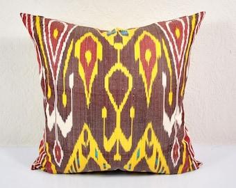 Sale! Ikat Pillow, Hand Woven Ikat Pillow Cover A528-1ba1, Ikat throw pillows, Designer pillows, Decorative pillows, Accent pillows