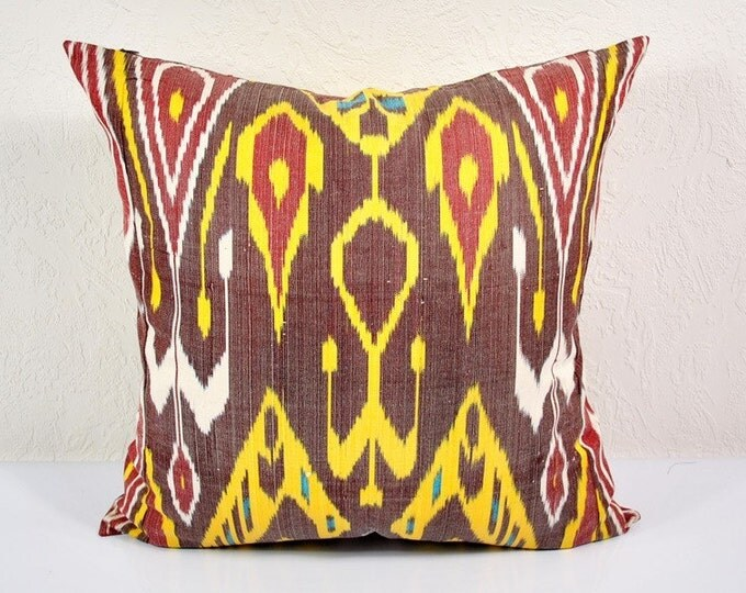 Sale! Ikat Pillow, Hand Woven Ikat Pillow Cover A528-1ba1, Ikat throw pillows, Designer pillows, Decorative pillows, Accent pillows