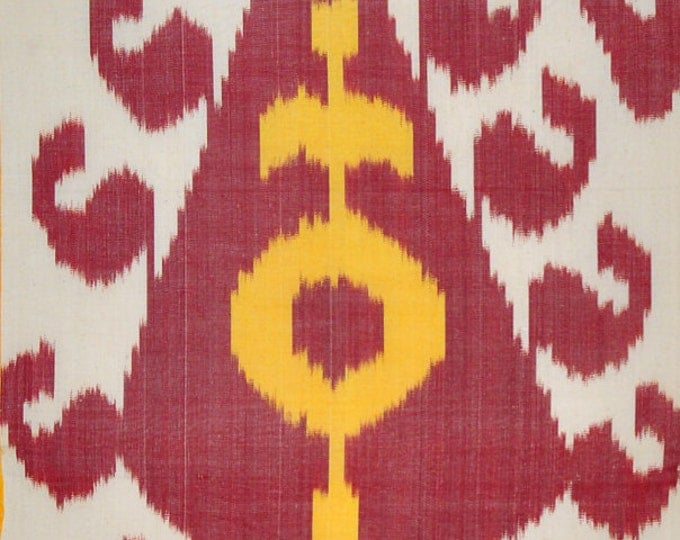 Sale! kat Fabric, Ikat Fabric by the yard, Hand Woven Fabric , F-A479-10