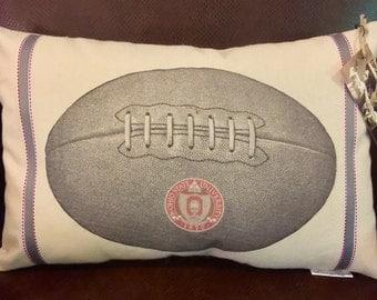Ohio State Seal Football Pillow